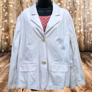 Talbots | Eggshell White Pea Coat/Blazer | 16W
